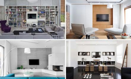 Idei pentru designul zonei TV din living