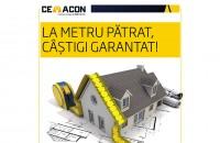 La metru patrat, castigi garantat! Cemacon iti pune la dispozitie cel mai inovator portofoliu de produse de zidarie din Romania. Calculeaza in metri patrati de zidarie si platesti mai putin!