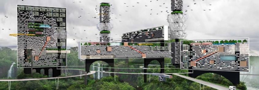 Oraşul post-pandemic al viitorului ar putea fi construit deasupra naturii