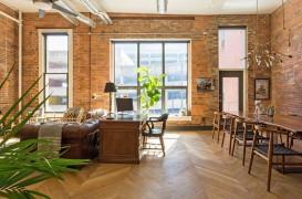 Interioare moderne cu tenta industriala intr-un apartament din Nashville