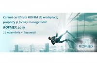 Cursuri certificate ROFMA de workplace, property și facility management - 20 noiembrie 2019, București