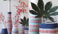 Pentru sezonul rece vaze si ghivece decorate cu sosete Asa ca pentru sezonul rece va propunem