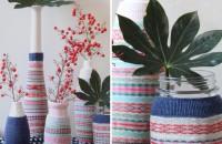 Pentru sezonul rece: vaze si ghivece decorate cu.. sosete