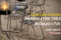 OFERTA SPECIALA pentru Biosemineul FireTable - au mai ramas doar cateva zile! Au mai ramas doar cateva zile in care puteti profita de OFERTA SPECIALA pentru biosemineul FireTable! Numai luna aceasta 800 euro + TVA in loc de 1600 de euro + TVA!