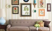 Despre amenajarea tablourilor si fotografiilor pe perete Tablourile sau fotografiile inramate pe perete nu sunt o