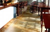 Pardoseli decorative pentru cafenele, restaurante, terase de vara