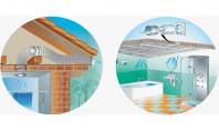 Gama de ventilatoare axiale inline Vents VKO1 Ventilatoare axiale inline pentru aport sau evacuare aer cu