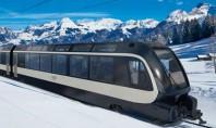 Imaginează-ți cum se văd Alpii din acest tren elvețian proiectat de italienii de la Pininfarina Italienii