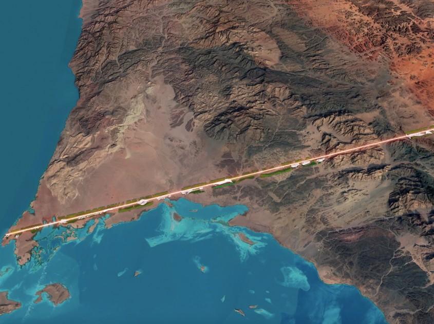 The Line, un oraş liniar de 170 de kilometri fără şosele şi maşini