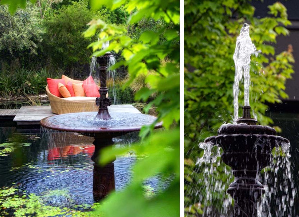Elemente decorative in amenajarile care utilizeaza apa in diferite ipostaze