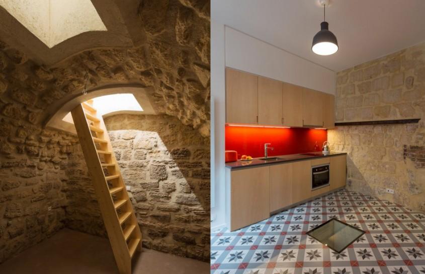 Un apartament foarte vechi şi-a regăsit frumuseţea într-o amenajare modernă şi luminoasă