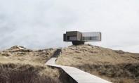 O casă ca desprinsă dintr-un film de Polanski construită pe coasta Mării Nordului Proiectata de studioul