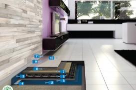 Sistem Eco pentru realizarea pardoselilor încălzite și acoperite cu plăci ceramice
