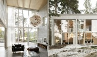 O casa compusa din sase pereti de beton armat si multe vitraje Arhitectul Arrhov Frick si-a