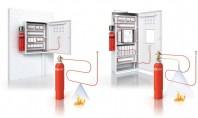 Detecție și stingere incendiu în câteva secunde - stingere directa = furtunul termosensibil ce se sparge