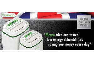 Dezumidificatorul Meaco Platinum Range UK cu consum redus de energie