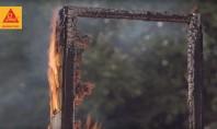 Sika Pyroplast sau cat de eficienta poate fi protectia la foc a elementelor din lemn Sika
