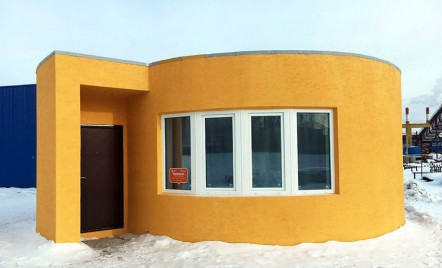 O casa mica, imprimata 3D in doar 24 de ore