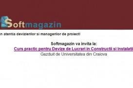 Softmagazin va invita la curs practic pentru Devizieri si Manageri de proiect