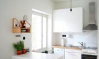 Apartament amenajat in alb si negru In momentul in care treci pragul unui apartament suta la
