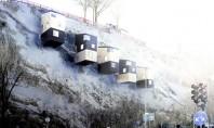 Case agățate de versantul abrupt al unei văi Un nou tip de casa agatata pe versantii