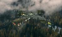 O fabrică de mobilă în mijlocul pădurii exemplu de arhitectură sustenabilă Fabrica este construita pentru producatorul