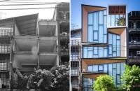 Dintr-o ruina apare o casa moderna cu interioare spectaculoase In ciuda starii precare in care se afla cladirea, echipa de arhitecti din Bangkog, Idin Architects a reusit sa revitalizeze structura si sa o transforme intr-o locuinta moderna, cu design elegant.