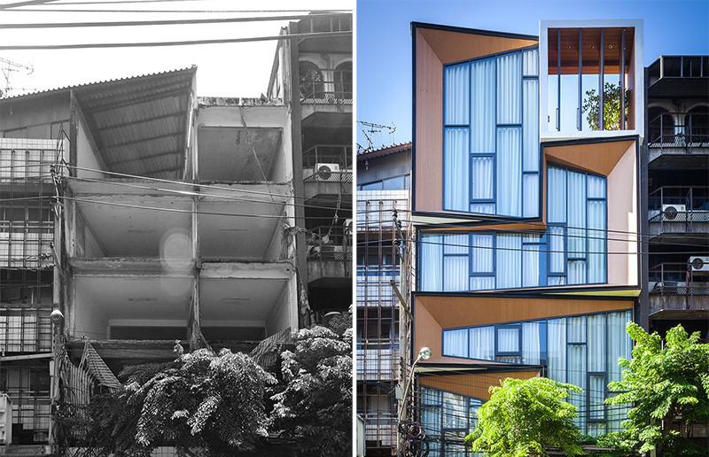 Transformarea unei ruine într-o casă modernă cu interioare spectaculoase
