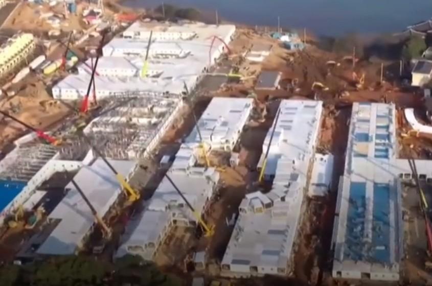 China a finalizat un spital cu 1 000 de paturi în câteva zile Construcția în 60