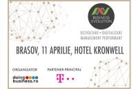 Proiectul national Business (r)Evolution ajunge la Brasov in 11 aprilie 2017 Seria de conferinte Business (r)Evolution ajunge la Brasov in 11 aprilie 2017.
