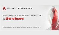 Avansează de la AutoCAD LT la AutoCAD cu 25% reducere Pana pe 15 Decembrie 2017 puteti