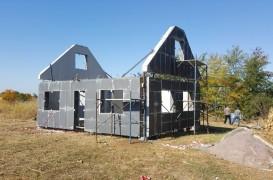 Impermeabilizare casă pilot din elemente de beton prefabricate