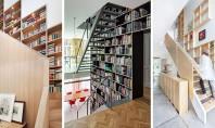 Combinaţii interesante cu scări trepte rafturi şi cărţi In continuare va propunem o combinatie intre scari