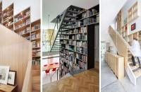 Combinaţii interesante cu scări, trepte, rafturi şi cărţi