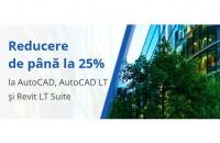 FLASH PROMO: până la 25% reducere la AutoCAD, AutoCAD LT și AutoCAD Revit LT Suite