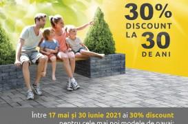 Ofertă aniversară ELIS PAVAJE: 30% discount la 30 de ani