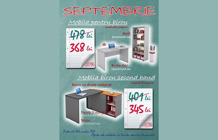 Promotia lunii septembrie la mobilier pentru birou