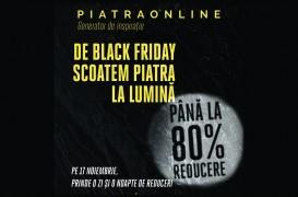 De Black Friday PIATRAONLINE pregăteşte discounturi de până la 80% la peste 100 de tone de