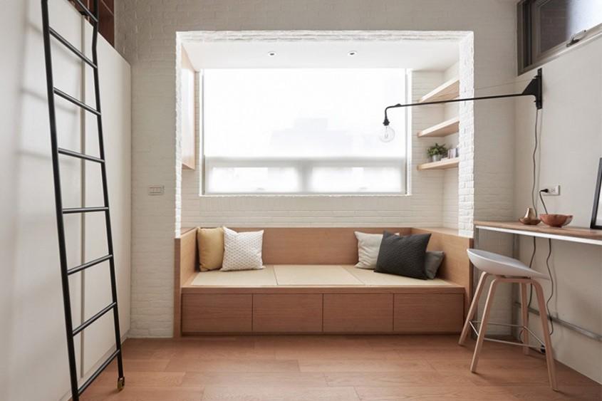 Exemplu de ingeniozitate într-un apartament foarte mic