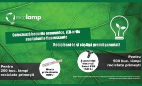 Colectează becuri economice, LED-uri sau tuburi fluorescente și Recolamp îți oferă garantat premii!