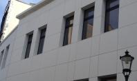 Restaurarea fatadei cu panouri din beton aparent - Hanul Gabroveni Bucurestiul a recuperat recent una dintre