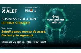 Business Evolution - RETHINK STRATEGY - Soluții digitale pentru munca de acasă