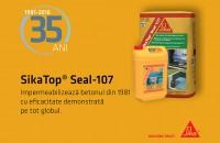 Sika Top Seal 107 - 35 de ani de eficacitate demonstrata Stiai ca in urma cu 35 de ani, in anul 1981, a fost lansat in premiera, pe piata din Elvetia, Mortarul de Impermeabilizare Sika Top Seal 107?