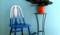 Bricolaj prin tehnica ombre - scaun colorat O tendinta pe care doamnele o cunosc cu siguranta