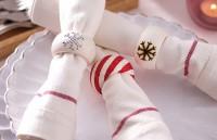 Realizati inele artistice de servetele pentru masa festiva de Craciun!