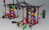 Dynamic Cage - cadru metalic structural pentru antrenament