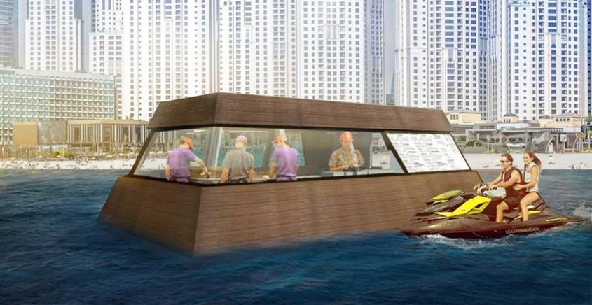 Prima bucătărie plutitoare din lume apare în Dubai