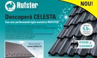 Descopera CELESTA cea mai performanta tigla metalica RUFSTER Incepand din octombrie 2016 RUFSTER a lansat pe