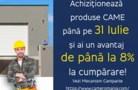 Discount-uri de până la 8% la automatizările Came România