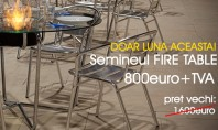 Biosemineul FireTable - un efect vizual elegant si modern OFERTA SPECIALA! Numai luna aceasta 800 euro+TVA